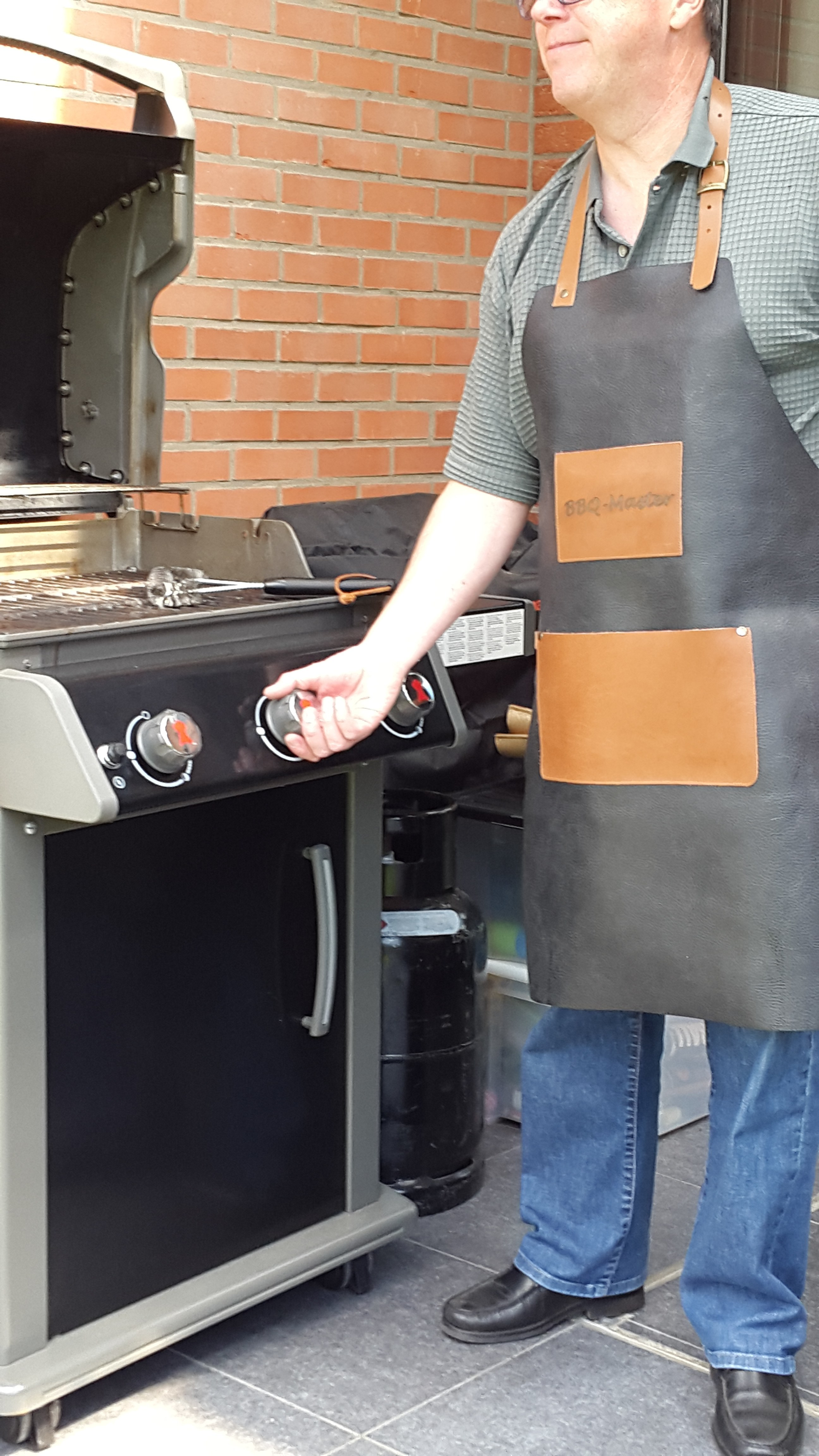 Barbecue schorten leder